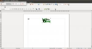 Importazione in Writer del file logo.png