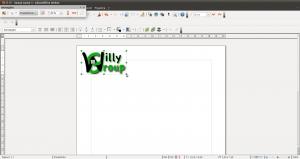 Spostamento e ridimensionamento di logo.png in Writer